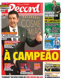 capa Jornal Record de 22 março 2018