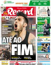 capa Jornal Record de 22 abril 2018