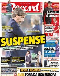 capa Jornal Record de 22 maio 2018
