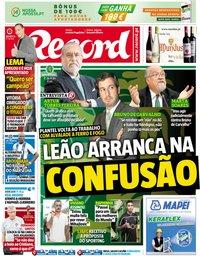 capa Jornal Record de 22 junho 2018