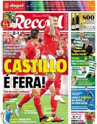 capa Jornal Record de 22 julho 2018