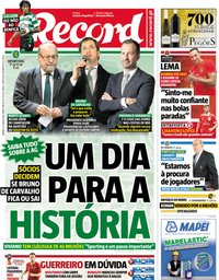 capa Jornal Record de 23 junho 2018