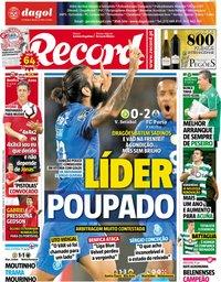 capa Jornal Record de 23 setembro 2018