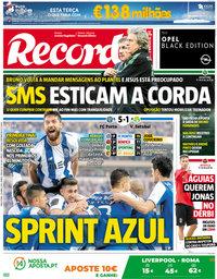 capa Jornal Record de 24 abril 2018