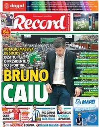 capa Jornal Record de 24 junho 2018