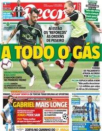 capa Jornal Record de 24 julho 2018