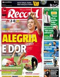 capa Jornal Record de 24 setembro 2018