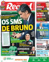 capa Jornal Record de 25 abril 2018