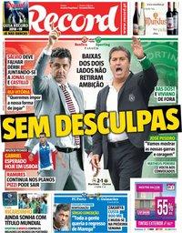 capa Jornal Record de 25 agosto 2018