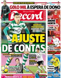 capa Jornal Record de 26 março 2018