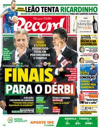 capa Jornal Record de 28 abril 2018