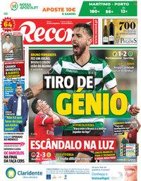 capa Jornal Record de 29 abril 2018