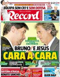 capa Jornal Record de 29 maio 2018