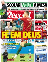 capa Jornal Record de 30 junho 2018