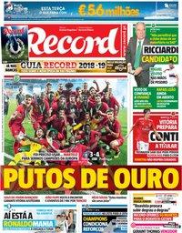 capa Jornal Record de 30 julho 2018
