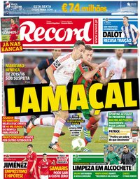 capa Jornal Record de 31 maio 2018