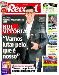 capa Jornal Record de 1 janeiro 2018