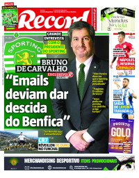 capa Jornal Record de 2 janeiro 2018
