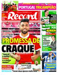 capa Jornal Record de 2 setembro 2017