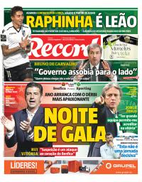 capa Jornal Record de 3 janeiro 2018