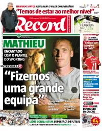 capa Jornal Record de 3 setembro 2017