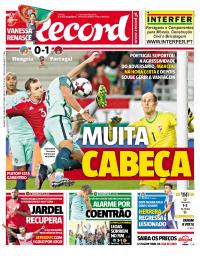 capa Jornal Record de 4 setembro 2017