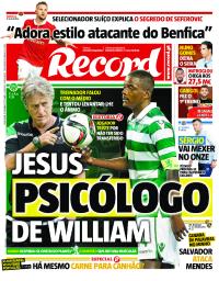 capa Jornal Record de 5 setembro 2017