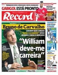 capa Jornal Record de 6 setembro 2017