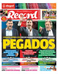 capa Jornal Record de 7 janeiro 2018