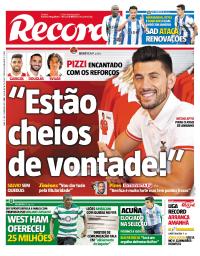capa Jornal Record de 7 setembro 2017