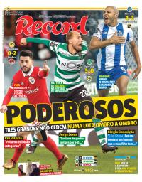 capa Jornal Record de 8 janeiro 2018