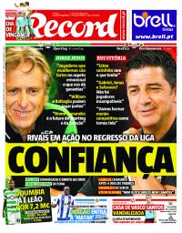 capa Jornal Record de 8 setembro 2017