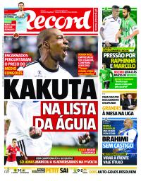 capa Jornal Record de 9 janeiro 2018