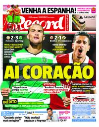 capa Jornal Record de 9 setembro 2017