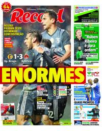 capa Jornal Record de 14 janeiro 2018