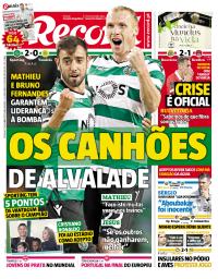 capa Jornal Record de 17 setembro 2017