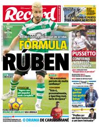 capa Jornal Record de 19 janeiro 2018