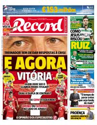 capa Jornal Record de 22 setembro 2017