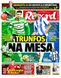 capa Jornal Record de 23 janeiro 2018