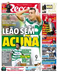 capa Jornal Record de 23 setembro 2017