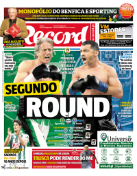 capa Jornal Record de 24 janeiro 2018