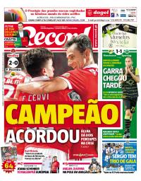 capa Jornal Record de 24 setembro 2017