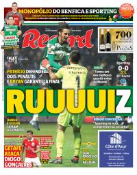 capa Jornal Record de 25 janeiro 2018