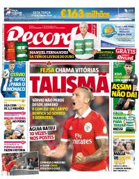capa Jornal Record de 25 setembro 2017