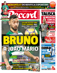 capa Jornal Record de 26 janeiro 2018