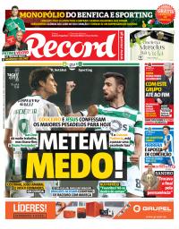 capa Jornal Record de 27 janeiro 2018