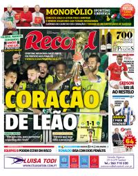 capa Jornal Record de 28 janeiro 2018