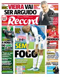 capa Jornal Record de 31 janeiro 2018