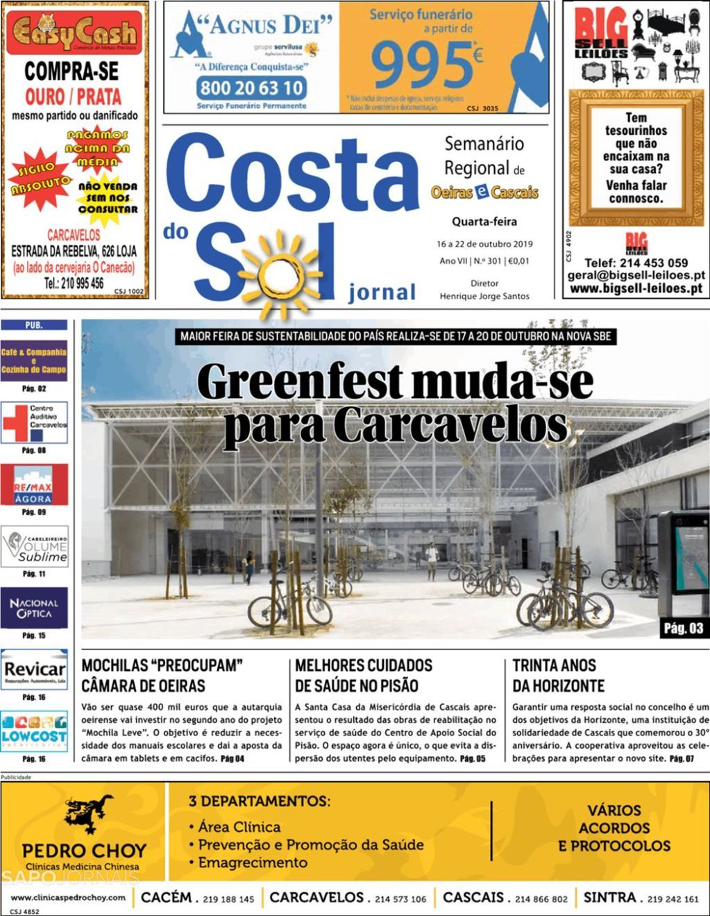 Costa do Sol Jornal   30 de Outubro by Costa do Sol Jornal