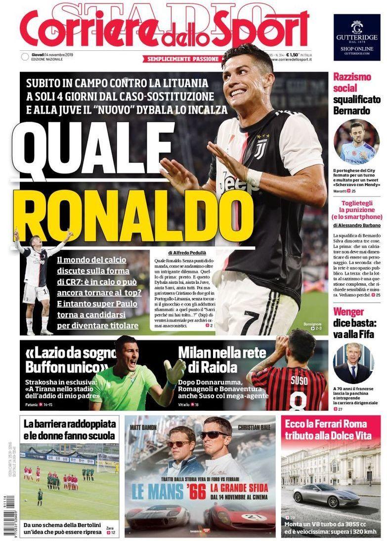 capa Corriere dello Sport